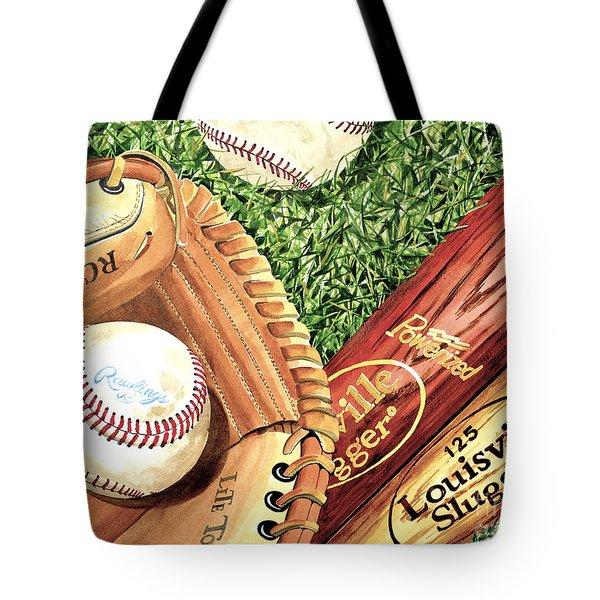 Play Ball Tote Bag by Rick Mock