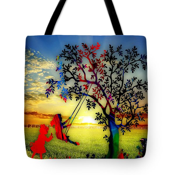 Playful At Sunset Tote Bag by Marvin Blaine