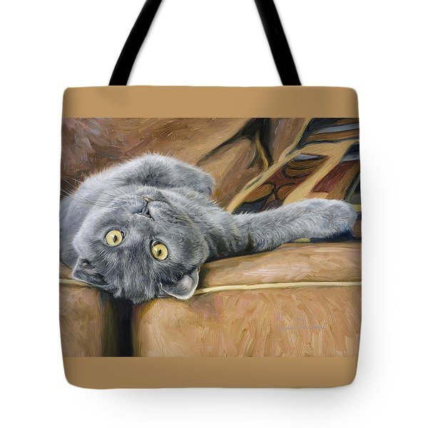 Playful Tote Bag by Lucie Bilodeau
