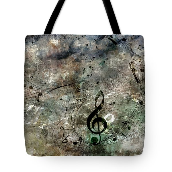 Playing Your Song Tote Bag by Angelina Vick