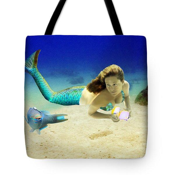 Playmates Tote Bag by Paula Porterfield-Izzo