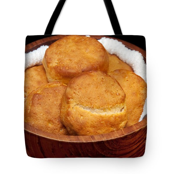 Please Pass The Biscuits Tote Bag by Andee Design