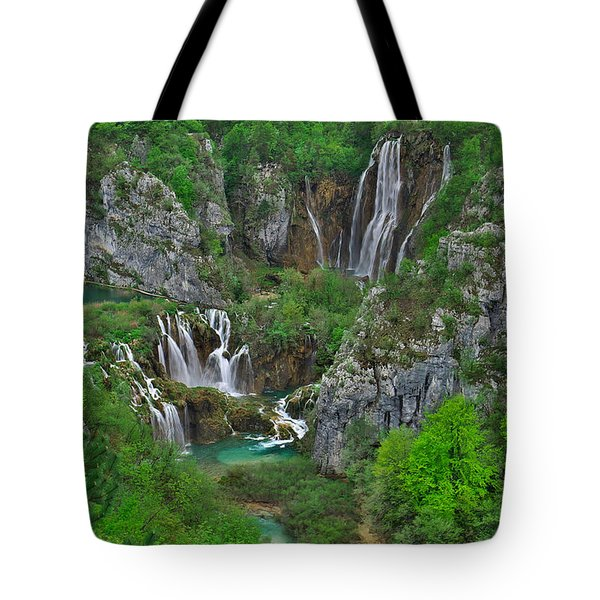 Plitvice Tote Bag by Ivan Slosar