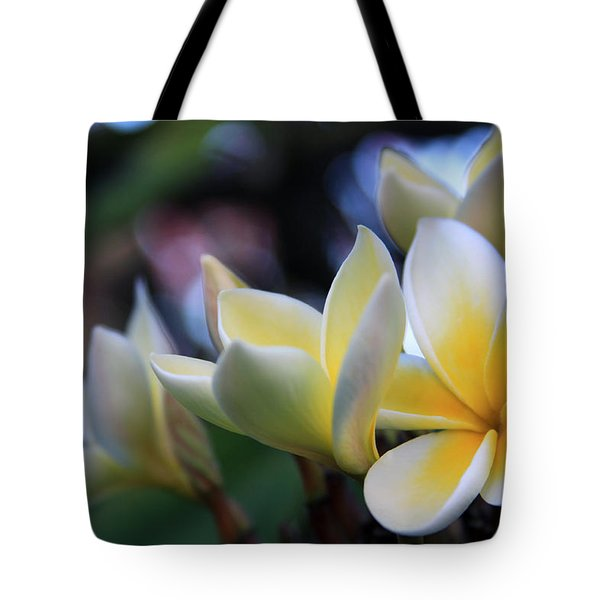 Plumeria Frangipani Sunshine Lei Tote Bag by Karon Melillo DeVega