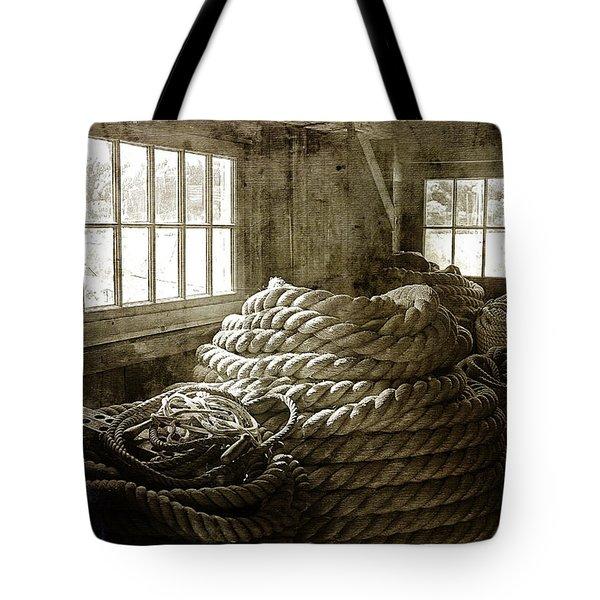 Plymouth Cordage Company Ropewalk Tote Bag by Cindi Ressler