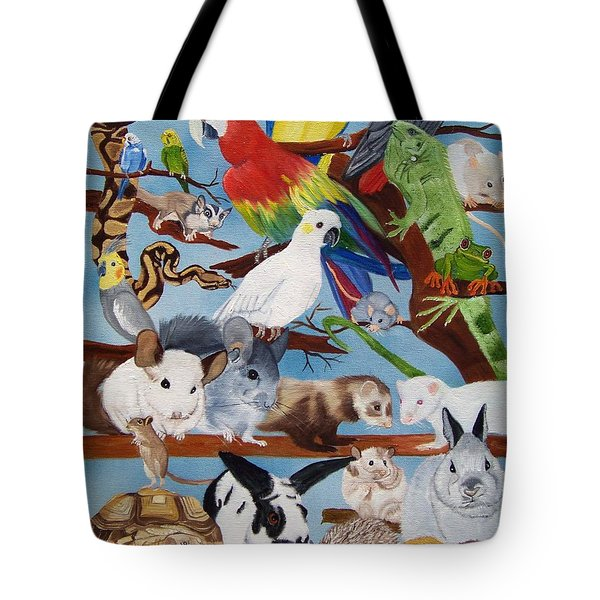 Pocket Pets Tote Bag by Debbie LaFrance