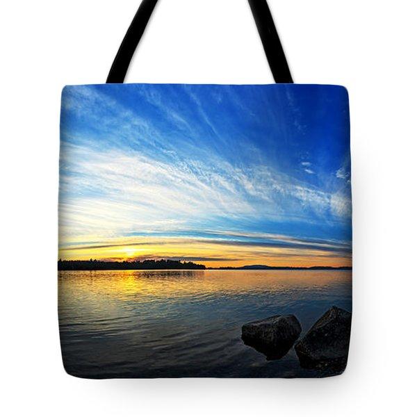 Pocomoonshine Sunset 1 Panorama Tote Bag by Bill Caldwell -        ABeautifulSky Photography