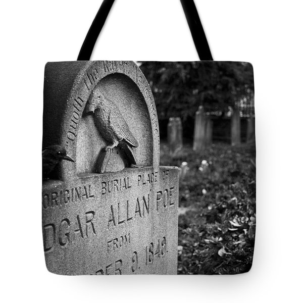 Poe's Original Grave Tote Bag by Jennifer Ancker