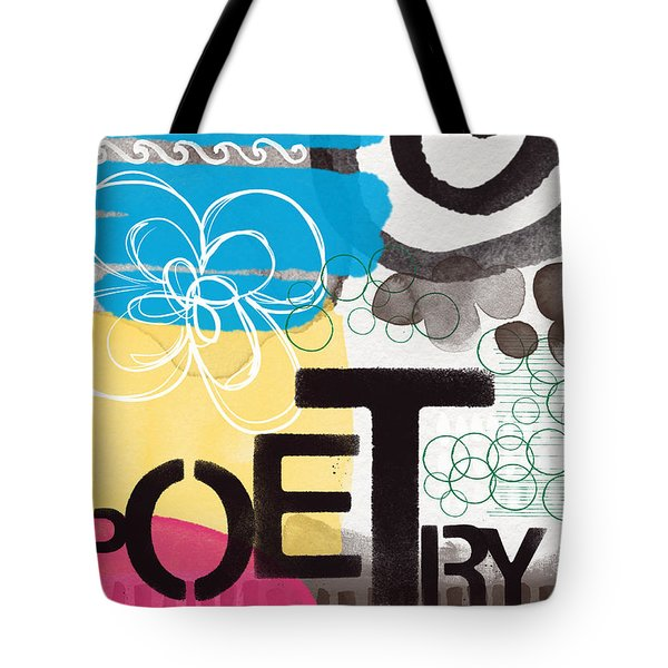 Poetry- Contemporary Abstract Painting Tote Bag by Linda Woods