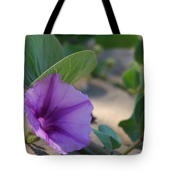 Pohuehue - Pua Nani O Kamaole Hawaii - Beach Morning Glory Tote Bag by Sharon Mau