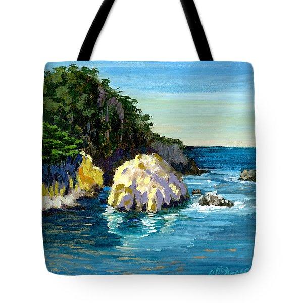 Point Lobos Rock Tote Bag by Alice Leggett