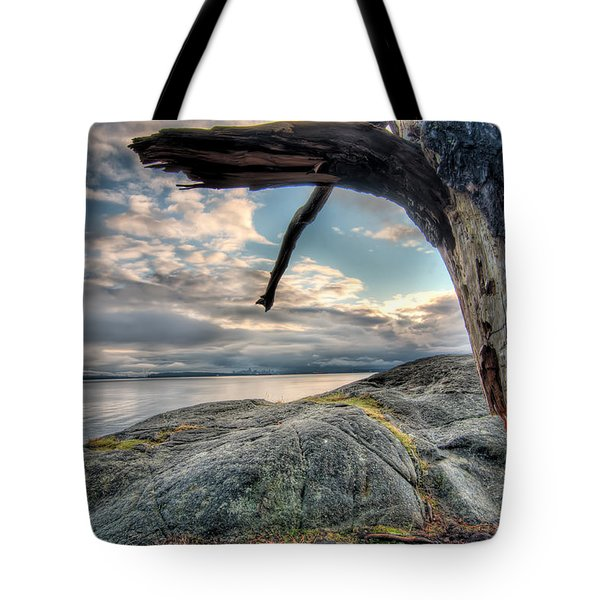Point Me Towards Downtown Vancouver Tote Bag by James Wheeler