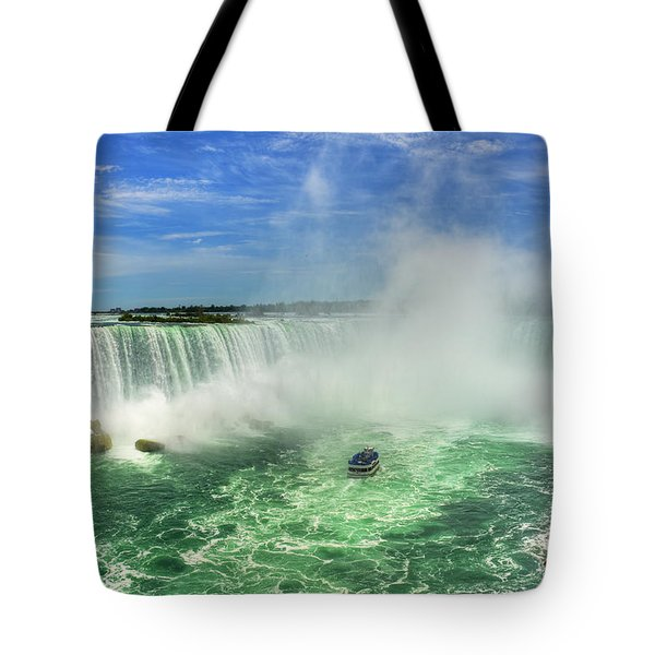 Point Of Land Cut In Two.. Tote Bag by Nina Stavlund