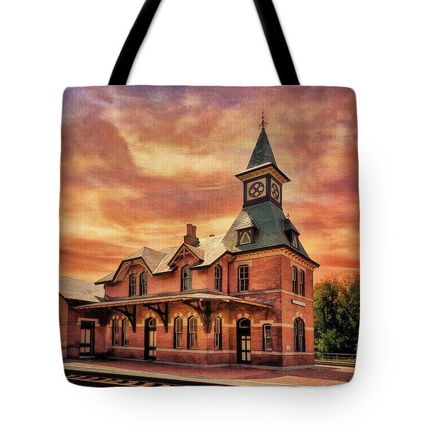 Point Of Rocks Train Station  Tote Bag by Lois Bryan