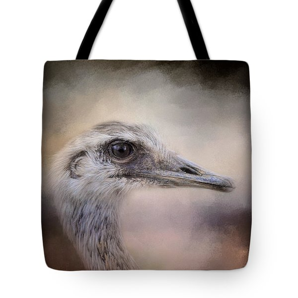 Poised - Ostrich - Wildlife Tote Bag by Jai Johnson