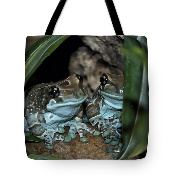 Poisonous Frogs With Sticky Feet Tote Bag by Thomas Woolworth