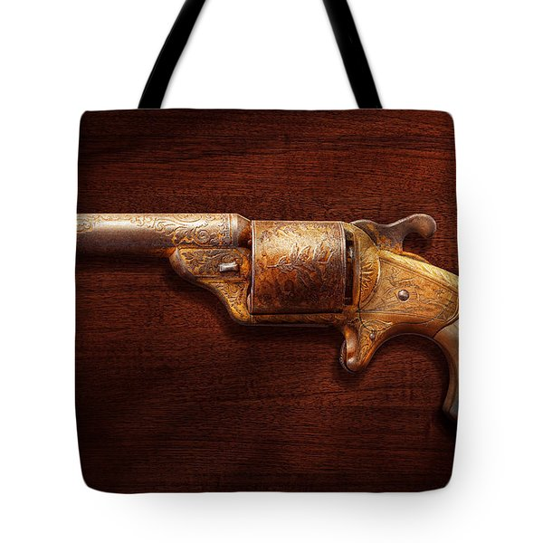 Police - Gun - Mr Fancy Pants Tote Bag by Mike Savad