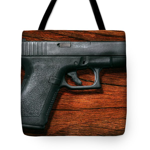 Police - Gun - The modern gun  Tote Bag by Mike Savad