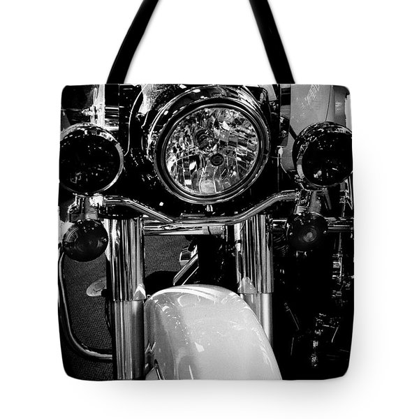 Police Harley II Tote Bag by David Patterson