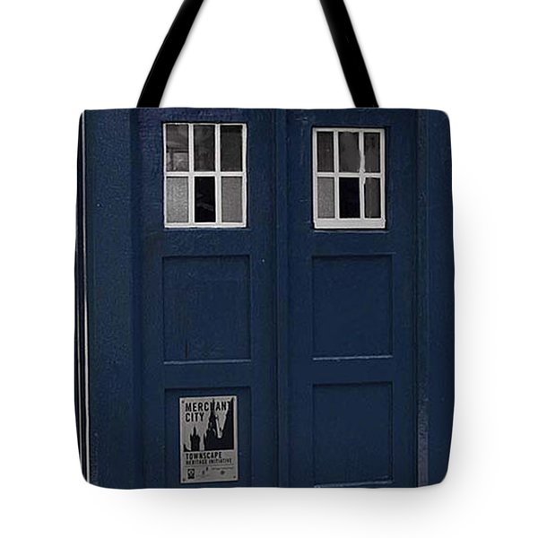 Police Phone Box Tote Bag by Philip Ralley