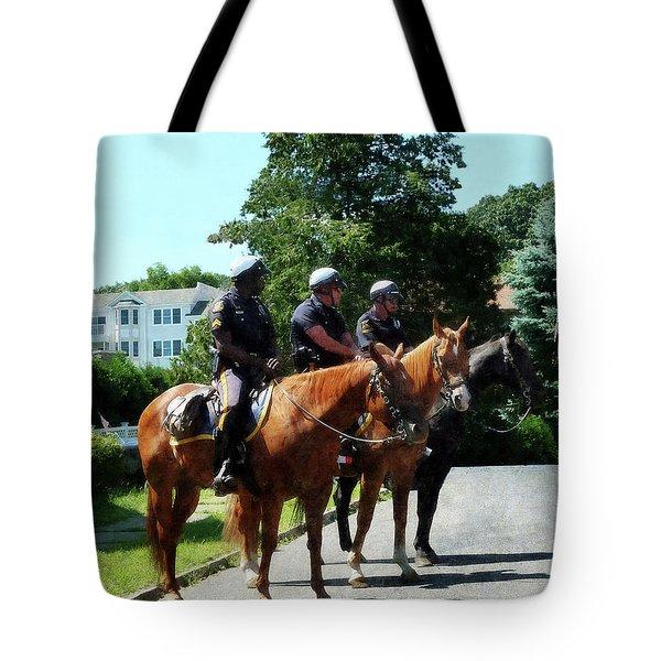 Policeman - Mounted Police Profile Tote Bag by Susan Savad