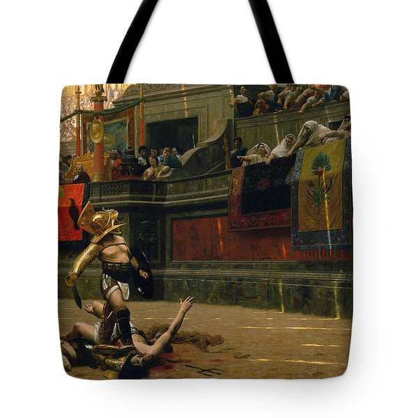 Pollice Verso Tote Bag by War Is Hell Store