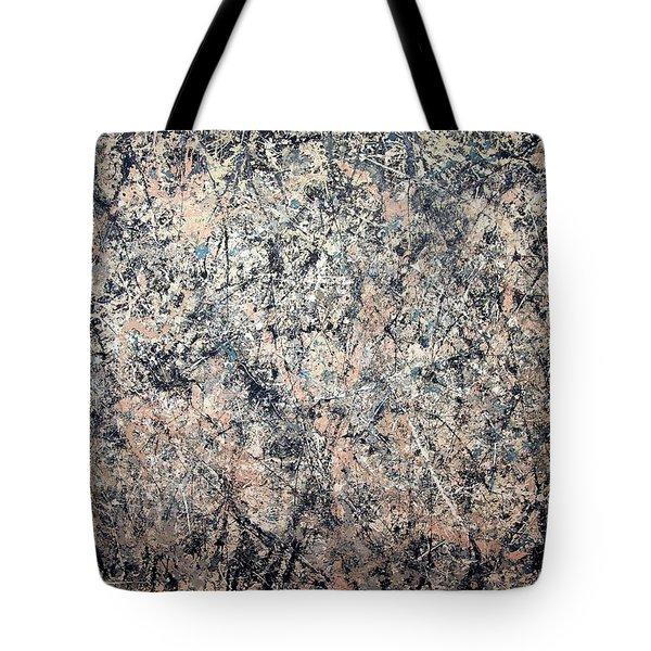 Pollock's Number 1 -- 1950 -- Lavender Mist Tote Bag by Cora Wandel