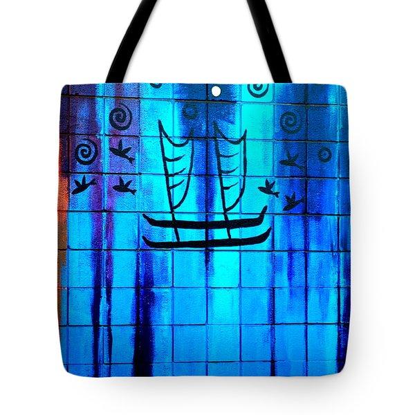 Polynesian Graffiti  Tote Bag by Karon Melillo DeVega
