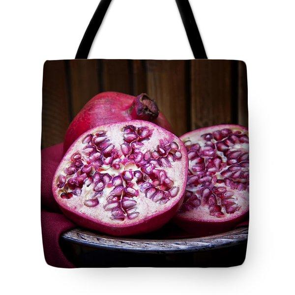 Pomegranate Still Life Tote Bag by Tom Mc Nemar