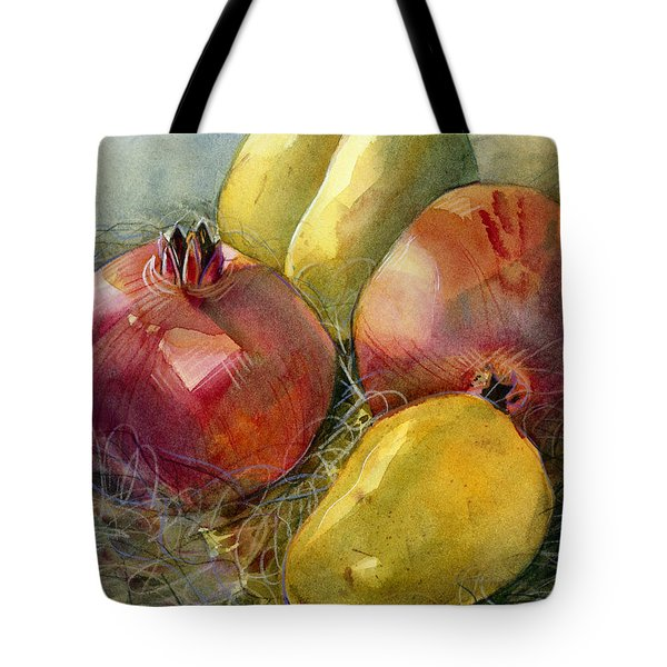 Pomegranates And Pears Tote Bag by Jen Norton