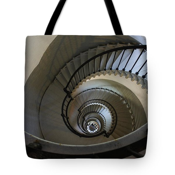 Ponce Stairs Tote Bag by Laurie Perry
