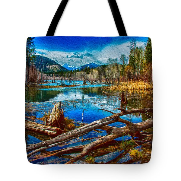 Pondering A Mountain Tote Bag by Omaste Witkowski