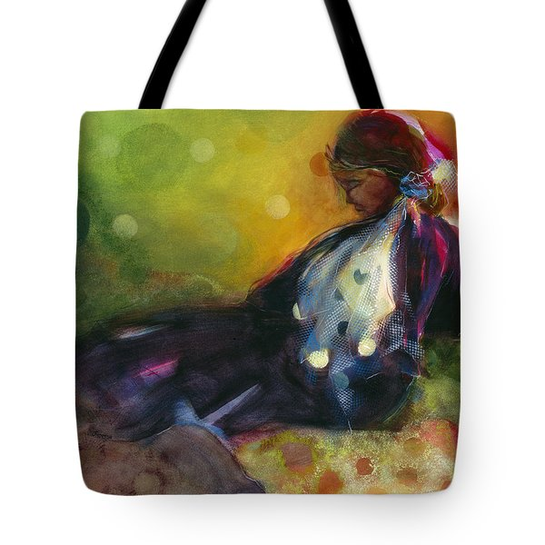 Pondering The Cosmos Tote Bag by Jen Norton