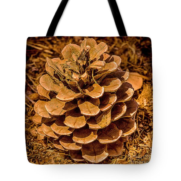 Ponderosa Pine Cone Tote Bag by  Bob and Nadine Johnston