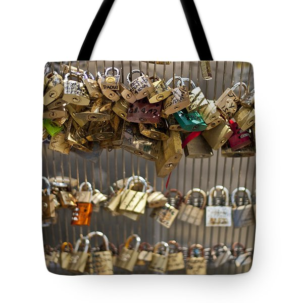 Pont des Artes Tote Bag by Nomad Art And  Design