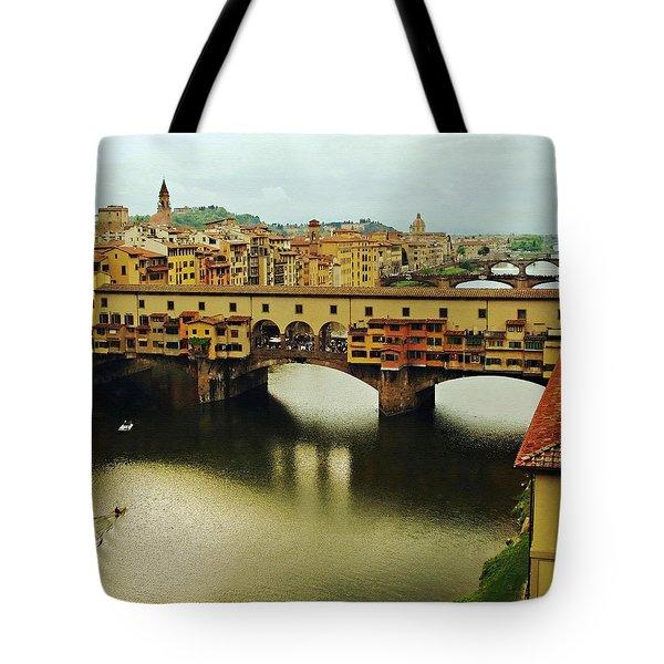Ponte Vecchio 2 Tote Bag by Ellen Henneke