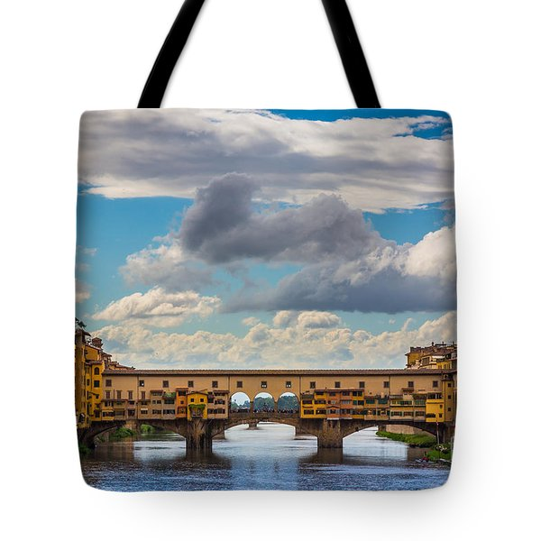Ponte Vecchio Clouds Tote Bag by Inge Johnsson