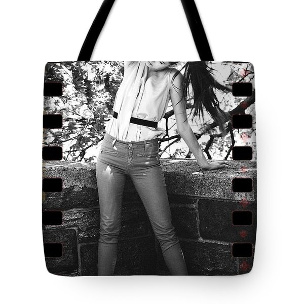 Pony Tail Lady Tote Bag by Alice Gipson