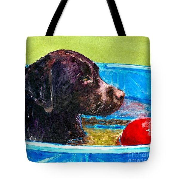 Pool Party Of One Tote Bag by Molly Poole