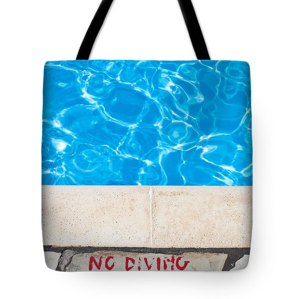 Poolside Warming Tote Bag by Tom Gowanlock