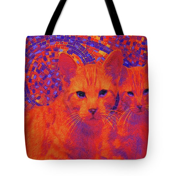Pop Art Cats Tote Bag by Jane Schnetlage