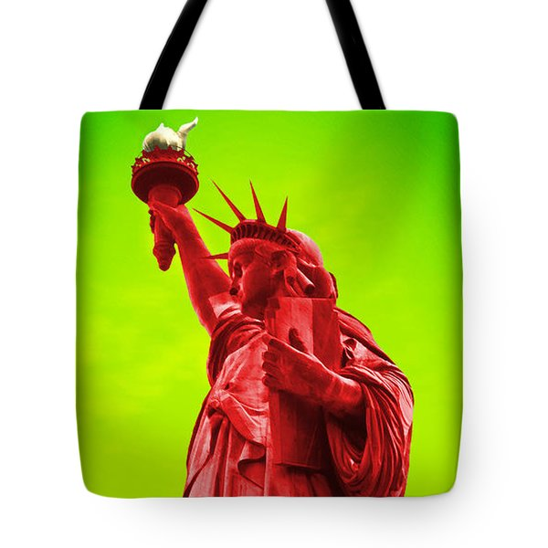 Pop Art Liberty Tote Bag by Mike McGlothlen