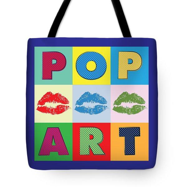 Pop Art Lips Tote Bag by Gary Grayson