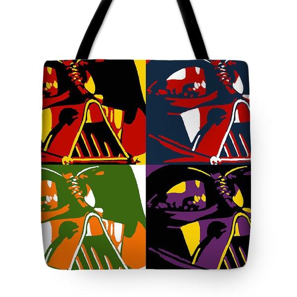 Pop Art Vader Tote Bag by Dale Loos Jr