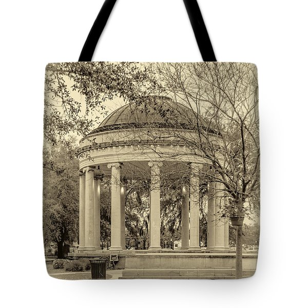 Popp Bandstand sepia Tote Bag by Steve Harrington