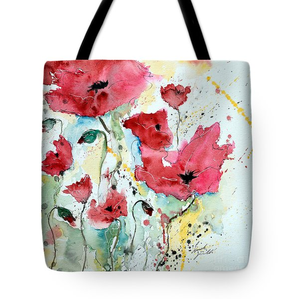 Poppies 05 Tote Bag by Ismeta Gruenwald
