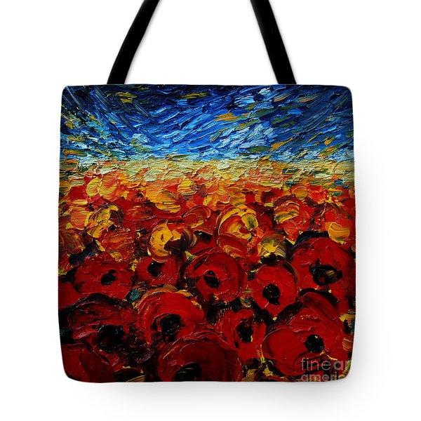 Poppies 2 Tote Bag by Mona Edulesco