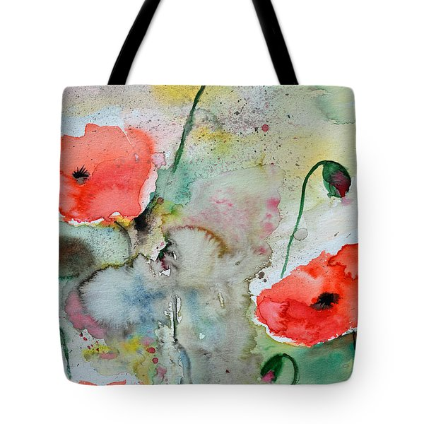 Poppies - Flower Painting Tote Bag by Ismeta Gruenwald