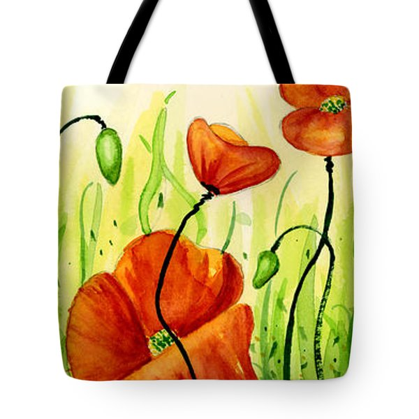 Poppy Field Tote Bag by Annie Troe