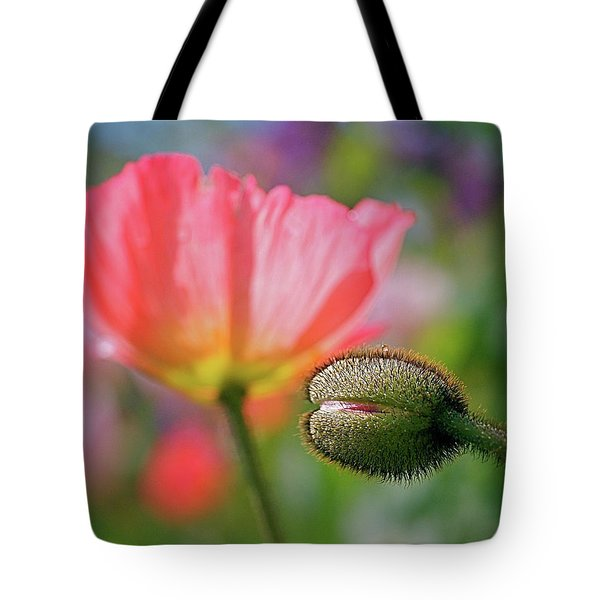 Poppy In Waiting Tote Bag by Rona Black